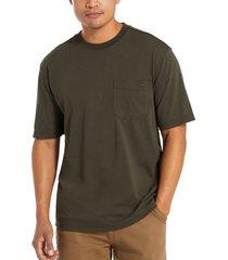 wolverine men's knox short sleeve tee black olive heather, size l