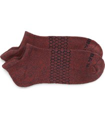 men's bombas marled ankle socks, size large - burgundy