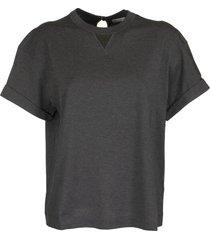 brunello cucinelli short sleeve t-shirt cotton martini jersey t-shirt with precious detail