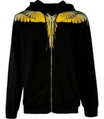 marcelo burlon wings regular zip hoodie