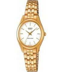 reloj casio ltp_1129n_7ar dorado acero inoxidable