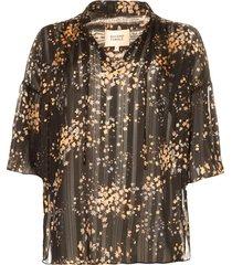 blouse met print snora  zwart