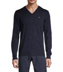 j. lindeberg men's lymann true merino wool sweater - grey - size s