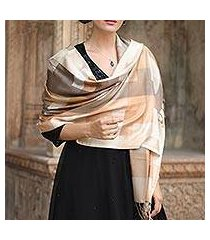 viscose shawl, 'earthy story' (india)