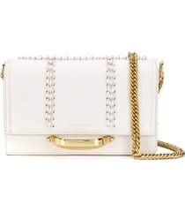 alexander mcqueen braid-detailed shoulder bag - white