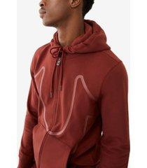 men's big horseshoe zip up hoodie