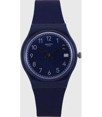 reloj azul oscuro swatch