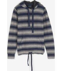 lucky brand men's stripe baja sweatshirt