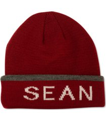 sean john men's trimmed logo beanie