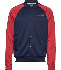 tape track jkt sweat-shirt trui blauw tommy sport