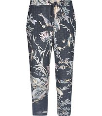 red valentino flowers and bird trousers