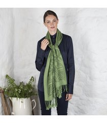 forest green pure wool celtic scarf