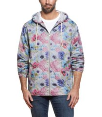 men's floral printed jacket