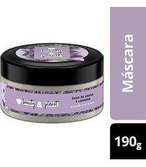 máscara de tratamento smooth and serene óleo de argan & lavanda love beauty and planet pote 190g