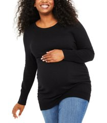 motherhood maternity plus size ruched sweater