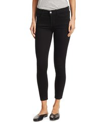 paul & shark women's the stiletto mid-rise crop jeans - clean black - size 32 (10-12)