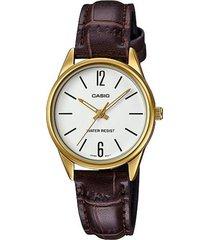 reloj casio ltp_v005gl_7b marrón cuero