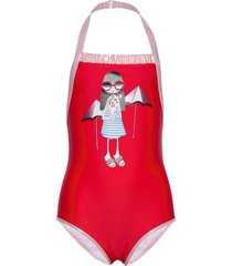 swimming costume badpak badkleding rood little marc jacobs