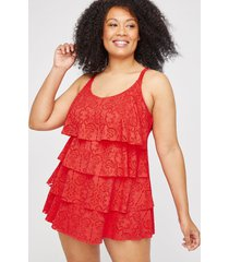 crochet flounce swimdress