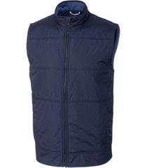 cutter & buck men's big & tall stealth full zip vest