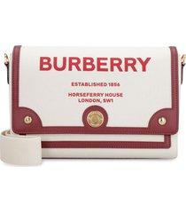 burberry note canvas shoulder bag