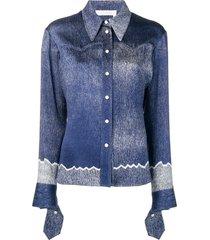 chloé cowboy shirt - blue