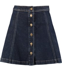 lautre chose denim mini skirt