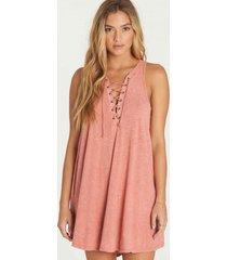 vestido let loose rosa billabong