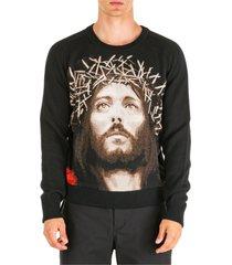 maglione maglia uomo girocollo jesus