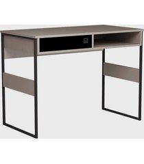 mesa office sydney 100cm metallic suede/ bege - bege - dafiti