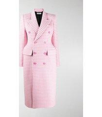 balenciaga gingham structured coat