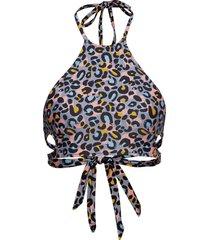 aria halter bikini top bikinitop multi/mönstrad superdry