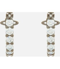 vivienne westwood women's kassie earrings - ruthenium white