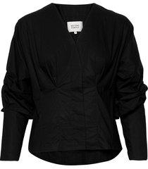 addison shirt blus långärmad svart second female