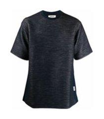 ambush camiseta decote careca com listras na lateral - azul