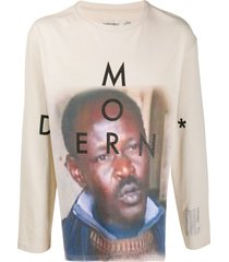 a-cold-wall* relaxed-fit graphic-print sweatshirt - neutrals
