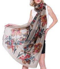 sciarpa oversize da 180 * 90cm in cotone e lino traspirante