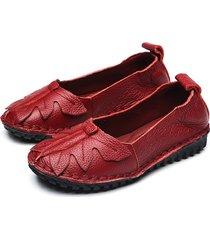 scarpe da donna in pelle per il tempo libero da donna