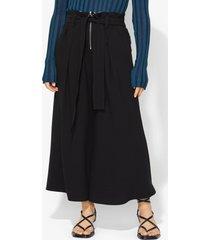 proenza schouler texture crepe belted pants black/grey 8