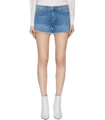 'audrey' frayed cuff denim shorts