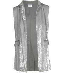 parosh sleeveless sequined gilet