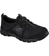 zapatos mujer  glide step - soar high negro skechers