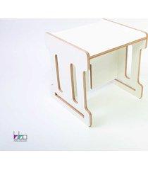 stolik dla dzieci qubik bibo mash mały biały