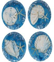 playa shells set of 4 dinner plate