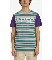 wesc max yarn dye multi stripe t-shirt