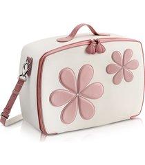 pineider designer baby collection, pink flower mini travel bag