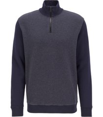 boss men's zolight zipper-neck sweatshirt