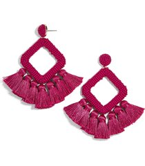 women's baublebar laniyah tassel statement earrings
