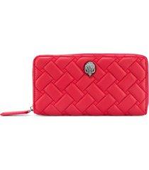 kurt geiger london quilted zip-around wallet - red