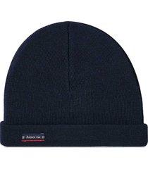 plain wool beanie - navy 00600-300
